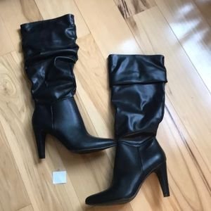 Christian Siriano heeled slouch boot.  NWT